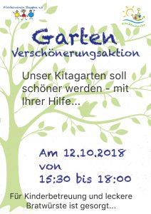 Kita-Garten Verschönerungsaktion 2018 - Steppke e.V.